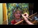 Дачница. Олег Буйко. Живопись маслом. Process of creating oil painting