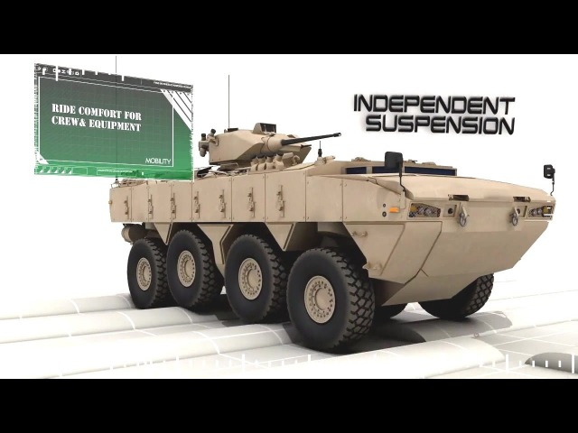 FNSS Pars 8X8 Wheeled Armoured Vehicle WAV Simulation 720p
