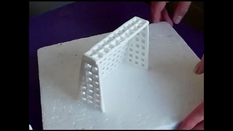 How to make a fondant soccer football net Jak zrobić bramkę do piłki z masy cukrowej