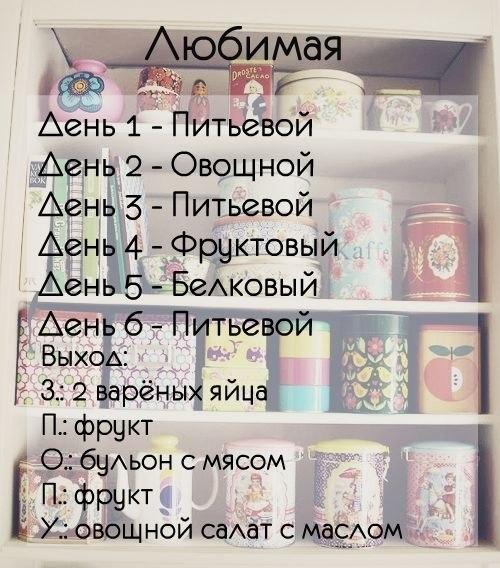 Дневник Диеты Любимая.