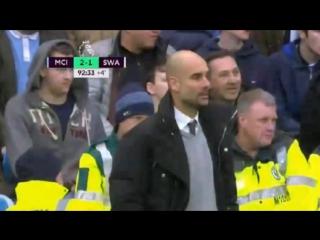Чемпионат Англии-2017. 24-тур. Манчестер Сити-Суонси 2-1 ()