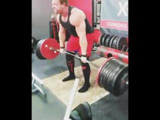 Jimmy paquet (канада), становая тяга без экипирои 379 кг .