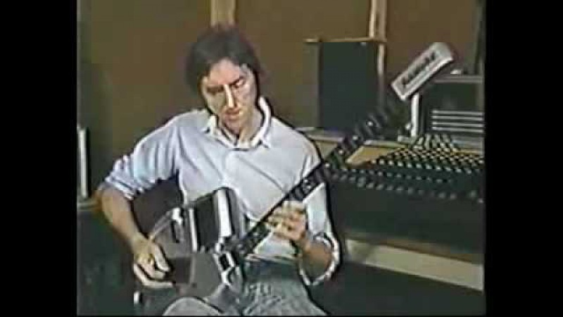 Allan Holdsworth playing his SynthAxe