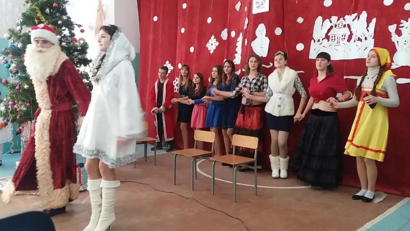 танець снігуроньки та діда мороза 2017