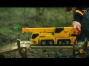 Мультик про машинки Трактор с прицепом, экскаватор и автокран строят дом. МанкиМульт