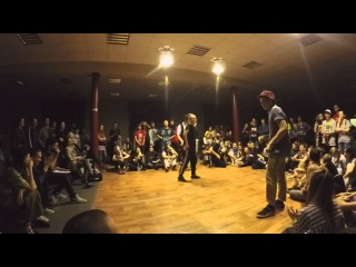 Funky man #8     Popping 1/8 final       Макс vs Чинарь vs Парфёнова Лиза