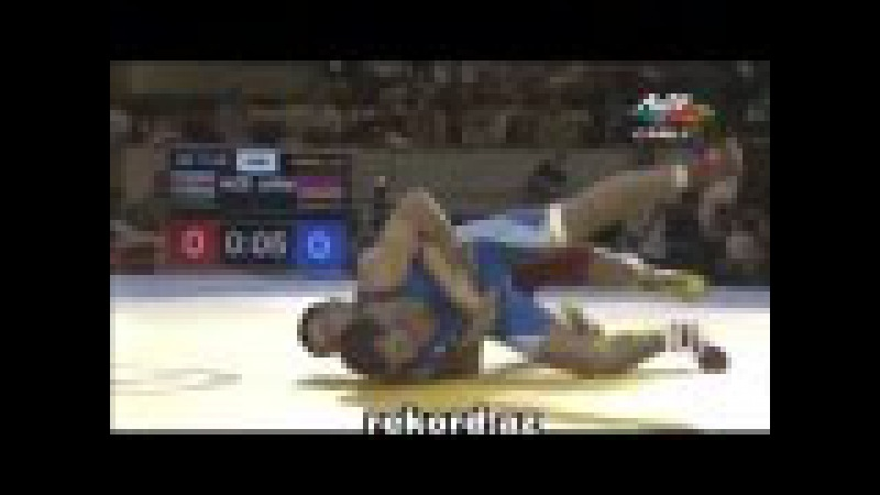 Resul Chunayev ermeni reqibini meglub etdi rekord az