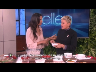 Ellen and padma lakshmi cook up some fun! rus sub
