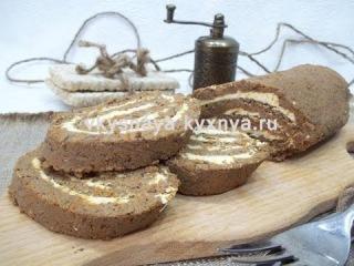 Домашний печеночный паштет из говяжьей печени в виде рулета
