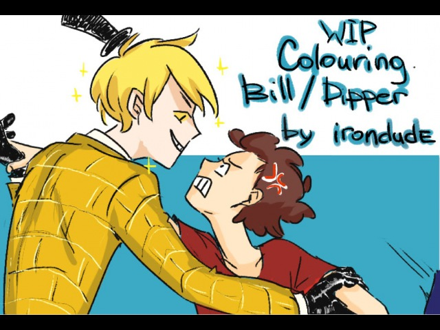 Gravity Falls. Bill Cipher Dipper Pines colouring wip