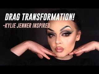 DRAG TRANSFORMATION! - Kylie Jenner inspired