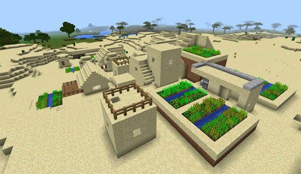 сид на карту с большой деревней для майнкрафт 0.14.0 #4