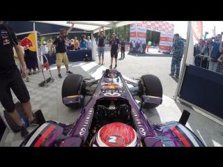 G-Drive Show NN 2014. Red Bull F1 Team. uncut sample