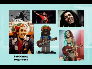 Минифигурка Боб Марли а-ля ЛЕГО : rastaman with guitar Bob Marley minifigure à la LEGO