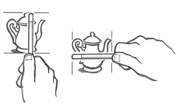 Как измерить карандашом сложную картинку