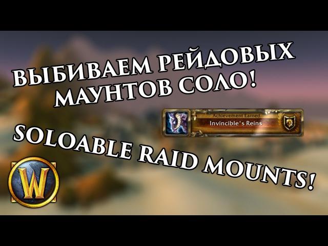 Выбиваем Рейдовых Маунтов Соло!