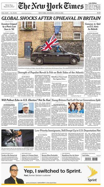 The New York Times  June 25 2016