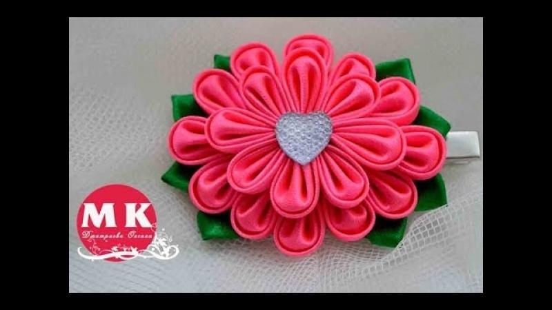 Мастер-класс Канзаши.Цветы из лент.Заколка для волос.Цветок Канзаши/ Flower. » FreeWka - Смотреть онлайн в хорошем качестве