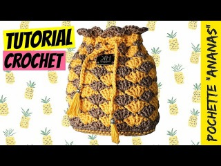 Tutorial pochette Ananas uncinetto | How to make crochet bag | Punto ventaglio || Katy Handmade
