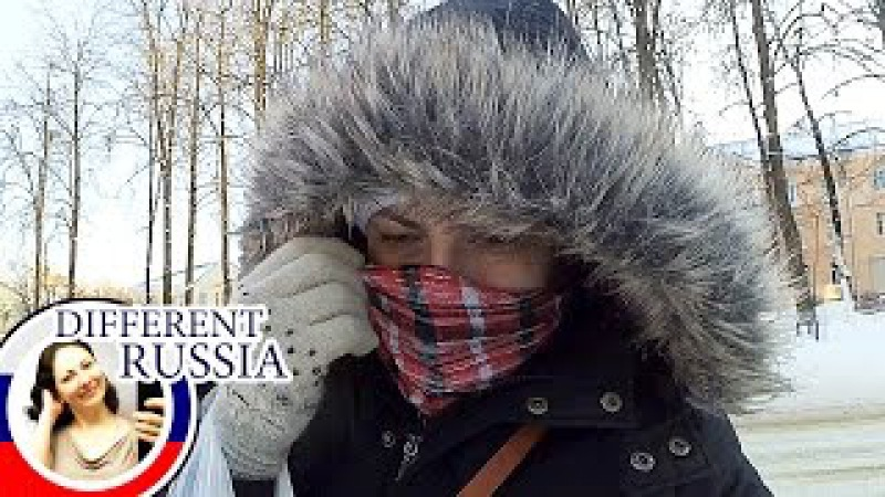 Moscow Extreme Cold Weather on Хmas 2017. Declared Orange Danger Level. Christ the Saviour Cathedral