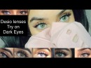 New Desio Contact Lenses On Brown Eyes Jungle Fever Caramel Brown Innocent White More