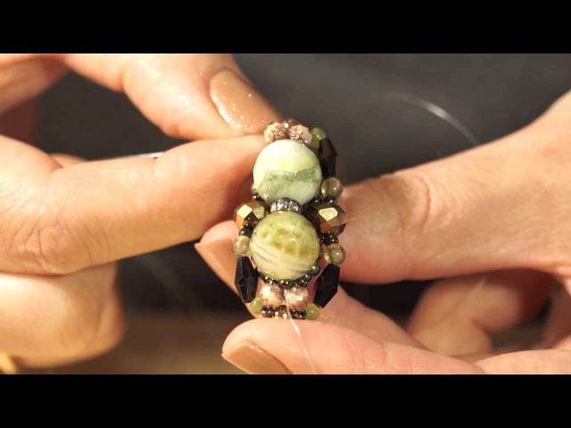 Мастер-класс по плетению кольца из бисера.