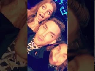 Adam Lambert snapchat from X Factor Grand Final 11/21/16 (2 snaps flipped)