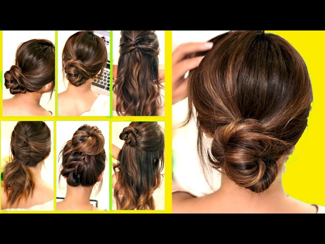 TOP 10 ★ LAZY RUNNING LATE HAIRSTYLES HACKS for FRIZZY HAIR EASY 💜 Spring Peinados