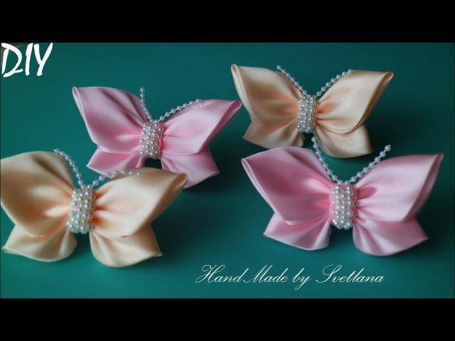 Бабочки из атласной ленты Бантики 🎀Laço de Cetim 🎀 Satin Ribbon bow 🎀laço de fita