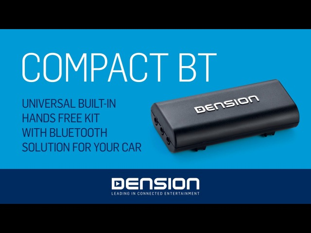 Dension Compact BT [CBT1GEN] - Installation and Usage