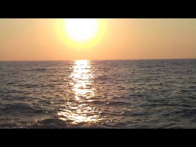 Морской прибой на закате - видео для релаксации 4 - ocean relax