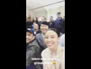 Insta story malese jow with harry shum jr 06.10