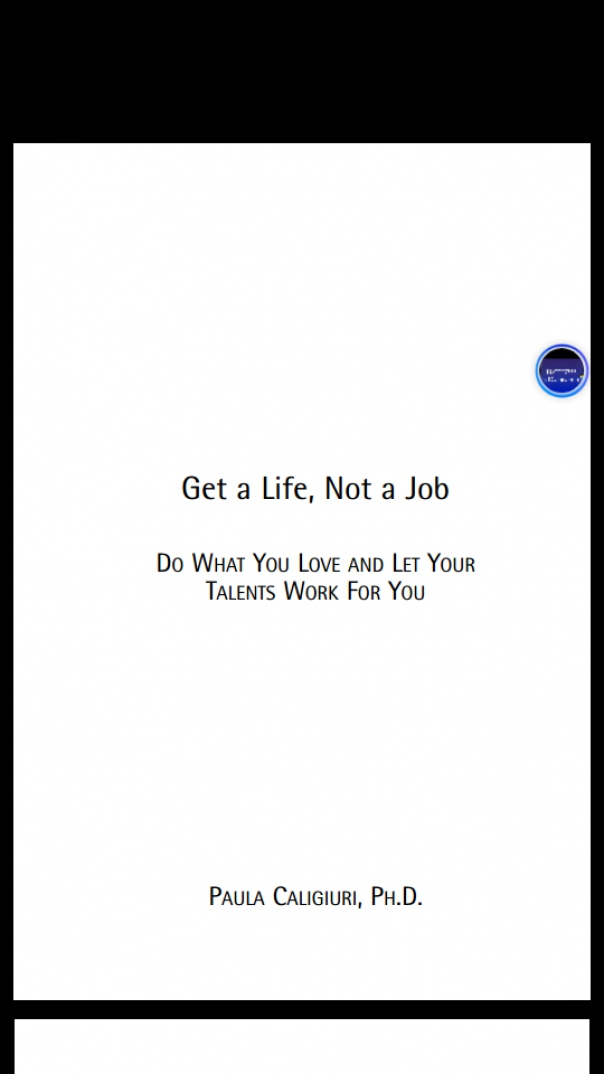 Get a Life, Not a Job Do What You