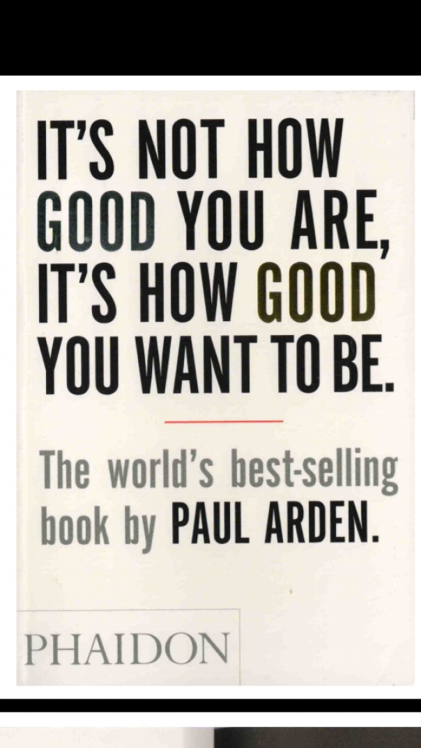 It's Not How Good You Are, Its How Good