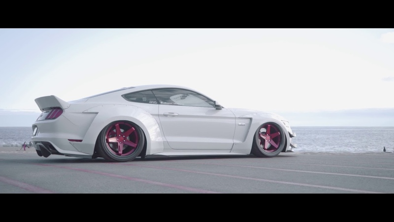 2015 Widebody Ford Mustang GT Supercharged on 20 Staggered BD21 in Brushed Anodized Red
