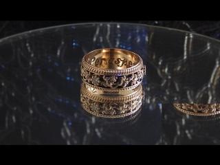 Кольцо  Виноградная лоза  . Золото , бриллианты , декор - чёрный родий .
