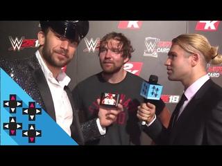 DEAN AMBROSE, AJ STYLES, BOBBY ROODE, ALEXA BLISS & SAMOA JOE are HYPED for WWE 2K18!!!