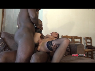 French milf mia wallace hard interracial double anal