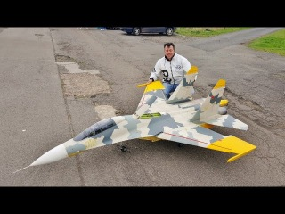 "MAIDEN GIANT 1/6 SCALE RC CARF SUKHOI SU-27 ""FLANKER"" - DAVE & STEVE - LONG MARSTON # 1 - 2017"