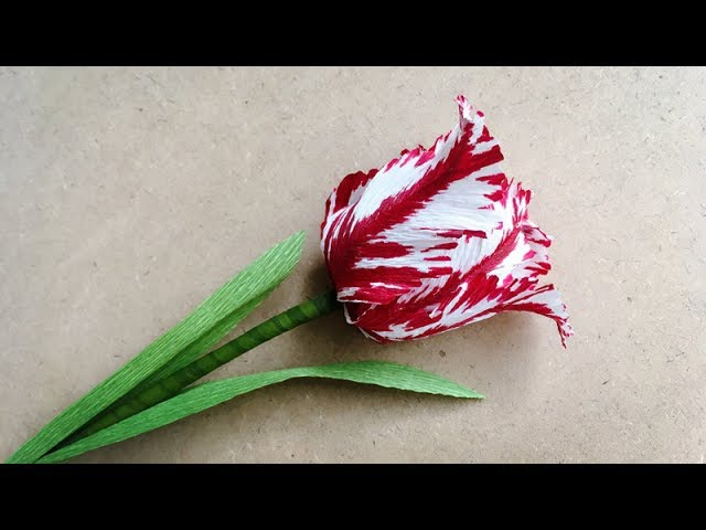ABC TV How To Make Parrot Tulips Paper Flower From Crepe Paper Craft Tutorial