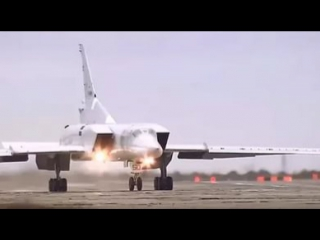 Russian strategic bomber tupolev tu-22m and tu-95 in action over syria
