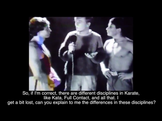 Jean-claude van damme - television appearance (martial arts karate) - (1983)