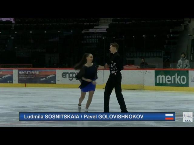 Людмила Сосницкая Павел Головишников 2017 TA⅃⅃INN TROPHY SENIOR Ice Dance SD