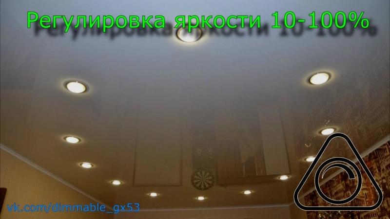 Диммируемые светодиодные лампы GX53 220 вольт