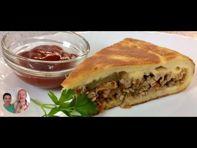 Мясной Пирог на Сковородке Легко можно обойтись и без духовки