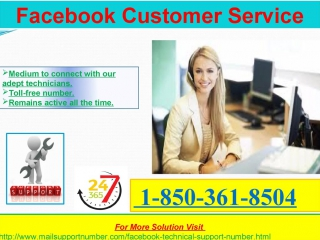 How to pleasantly avail 1-850-361-8504 facebook customer service straight right away?