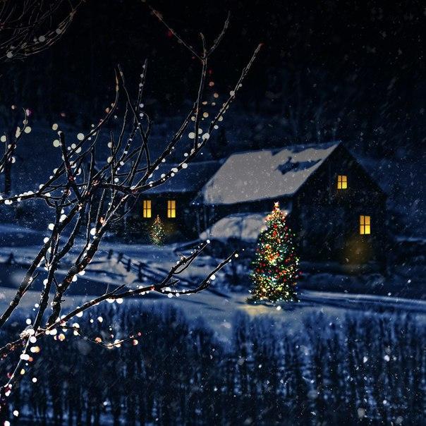 картинки для смартфонов новый год зима том вечере