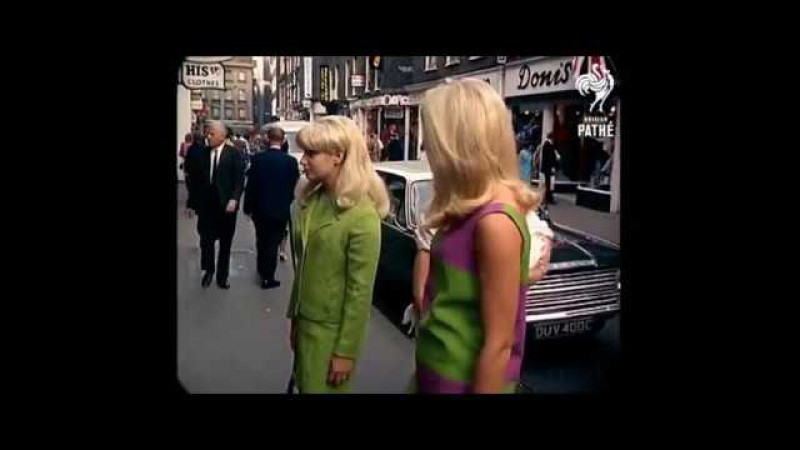 1967 London Street Scenes added sound w color remaster