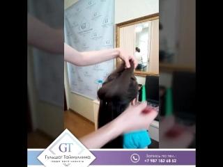 Объемная 3Д коса на выпускной в детский сад