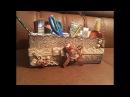 Органайзер из картонной коробки своими руками.